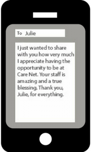 Julie received this text