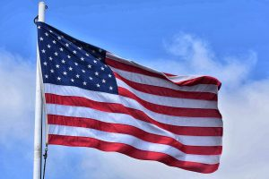 American flag - Life, Liberty and the pursuit of Happiness